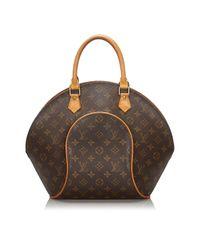 Borsa a mano in plastica marrone Ellipse di Louis Vuitton in Brown