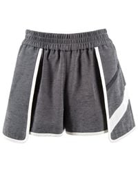 Jonathan Simkhai Gray Grey Viscose Shorts