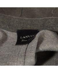 Giubbotto in Lana di Lanvin in Gray