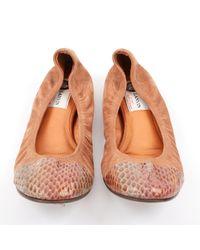 Lanvin \n Brown Leather Ballet Flats