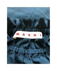 Marni Green Seide Mini Kleid