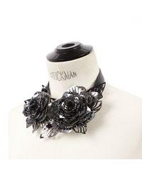 Collana in metallo nero di Lanvin in Black