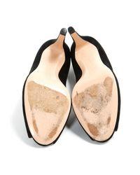 Gianvito Rossi Black Suede Heels