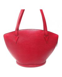 Louis Vuitton Red Epi St. Jacques Shopping Gm