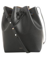 Mansur Gavriel Black Bucket Bag Leder Kleine Tasche