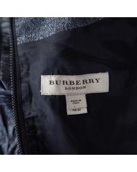 Burberry Metallic Midi Kleid