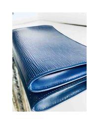 Louis Vuitton Blue Pochette Accessoire Leder Clutches