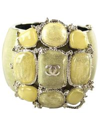 Chanel - Green Metal Bracelet - Lyst