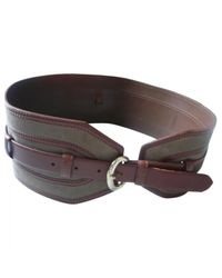 Sandro Brown Leather Belts