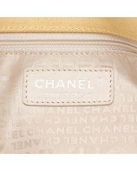 Chanel Yellow Pre-owned Cloth Handbag