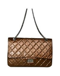 Chanel Metallic 2.55 Leder Cross Body Tashe
