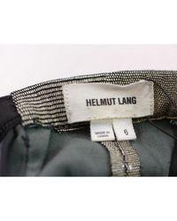Pantalons en Cuir Multicolore Helmut Lang