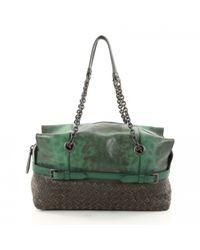 Bottega Veneta Green Leather Handbag