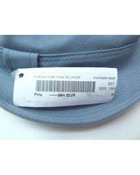Sombrero de Lino Hermès de color Blue