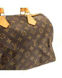 Bolsa de mano en lona marrón Speedy Louis Vuitton de color Brown