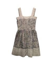 Chanel White Pre-owned Tweed Mini Dress