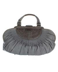 Bolso de Cuero Dior de color Gray