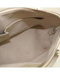 Louis Vuitton White Alma Leder Handtaschen