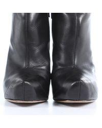 Botines en cuero negro Nicholas Kirkwood de color Black