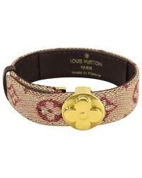 Louis Vuitton Metallic Pre-owned Monogram Bracelet