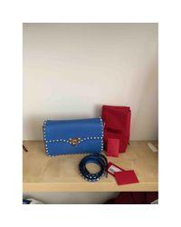 Valentino Blue Leder Cross Body Tashe