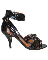 Sandales en cuir Givenchy en coloris Black