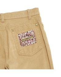 Roberto Cavalli Natural \n Blue Cotton - Elasthane Jeans