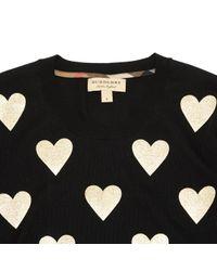 Pull-over en laine Burberry en coloris Black
