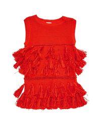 Dries Van Noten Red Tunic