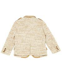 Miu Miu Natural \n Beige Tweed Jacket