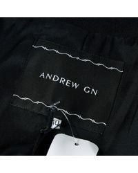 Mantel \N en Laine Noir Andrew Gn en coloris Black