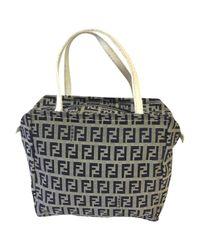 Fendi Black Leinen Handtaschen