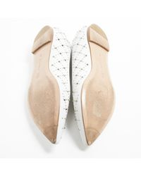 Gianvito Rossi White Leather Ballet Flats