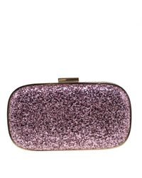 Anya Hindmarch Purple Mit Pailletten Clutches