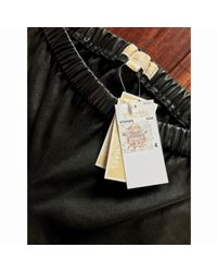 Michael Kors Black Leather Trousers