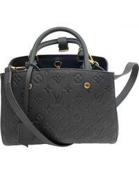 Louis Vuitton Black Montaigne Leder Cross Body Tashe
