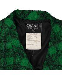 Chaqueta en lana verde Chanel de color Green