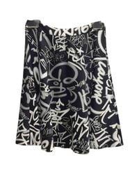 Moschino Black Multicolour Viscose Skirt