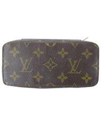 Louis Vuitton Brown Cloth Vanity Case