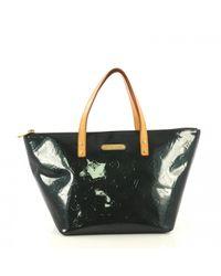 Louis Vuitton Black Bellevue Lackleder Shopper