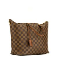 Borsa a mano in tela marrone Belmont di Louis Vuitton in Brown