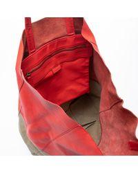Céline Red Cabas Leder Shopper