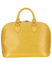 Louis Vuitton Yellow Alma Leather Handbag