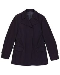 Helmut Lang - Blue Pre-owned Navy Wool Coats - Lyst