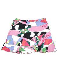 Emilio Pucci Multicolor Multicolour Cotton - Elasthane Skirts