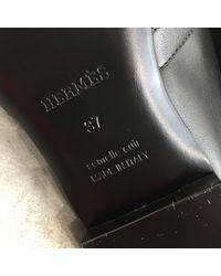 Mocasines de Cuero Hermès de color Black
