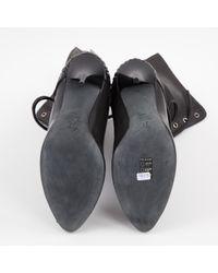 Giuseppe Zanotti Black Leder Stiefel