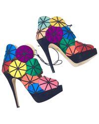 Charlotte Olympia Multicolor Multicolour Leather Heels