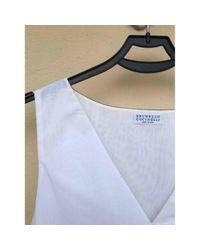 Brunello Cucinelli White Bluse