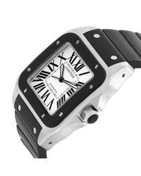 Cartier Santos 100 Uhren in Black für Herren